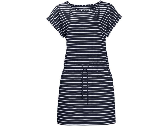 Jack Wolfskin Travel Striped Dress Damen midnightblue stripes
